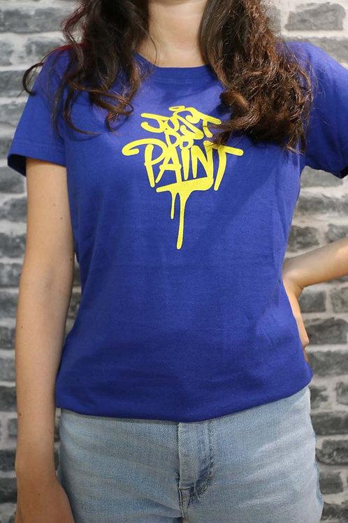 T-shirt Femme Bleu/Jaune