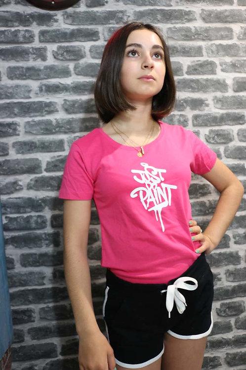 T-shirt Femme Rose/Blanc