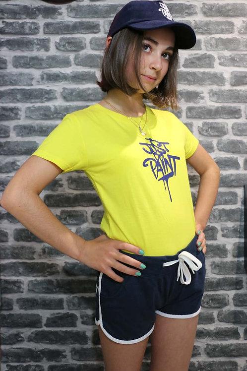 T-shirt Femme Jaune/Bleu