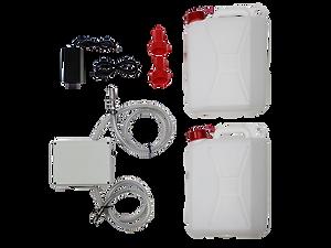 omega 15 kit pompaggio acqua lavandino per avere acqua corrente all'esterno del locale per eventi all'aria aperta e servizi di catering