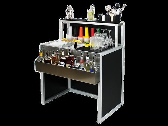 Cocktail station professionale portatile 90 cm per bar e ristoanti. smontabile e trasportabile con borsa o ruote per esterni ed interni