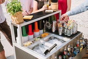 cocktail station da barman 90 cm, smonmtabile e trasportabile per esterni e interni .