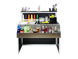 Omega station cocktail smontabile per locali, catering ed eventi