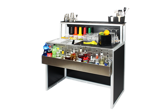 Barman workstation trasportabile per eventi 120 cm