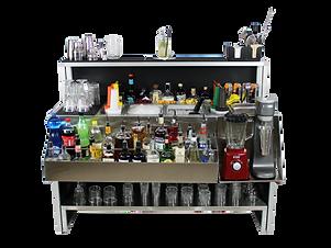 workstation bartender da esterni ed interni con lavandino e rubinetto per acqua
