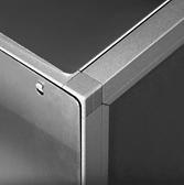 Postazione cocktail in acciaio inossidabile e resistente, solida e robusta per eventi