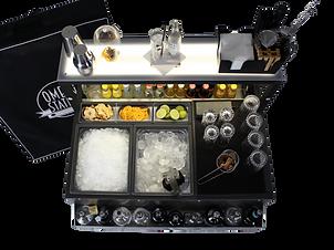 Workstation Barman 90 cm per esterni del locale, senza bisogno di corrente. personalizzabile, luminosa, resistente e moderna.