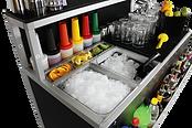 Bar modulare versatile per eventi, feste,  catering all'aperto, professionale, elegante, comoda e robusta