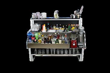 Omega 15 workstation arredata eventi bar hotel e catering, personalizzabile e trasportabile