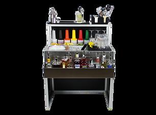 cocktail station portatile arredata da 90cm per barman