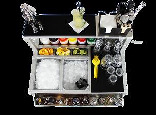 Cocktail station portatile 90 cm per bar ed eventi, personalizzabile, smontabile velocemente, trasportabile e leggera
