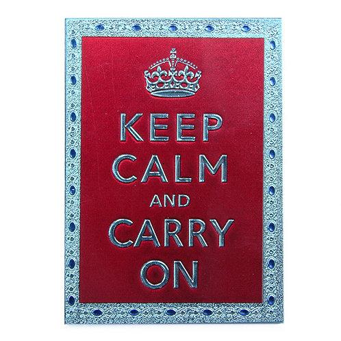 keep calm foil paper