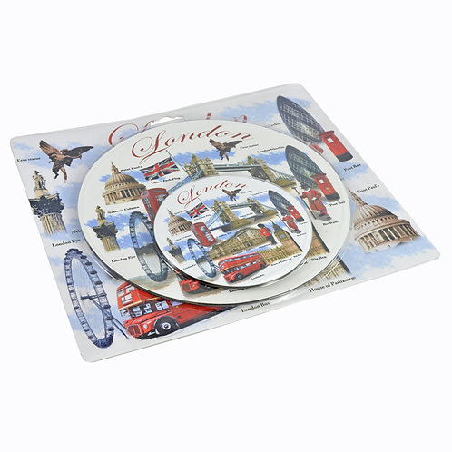 Mouse pad & coaster set