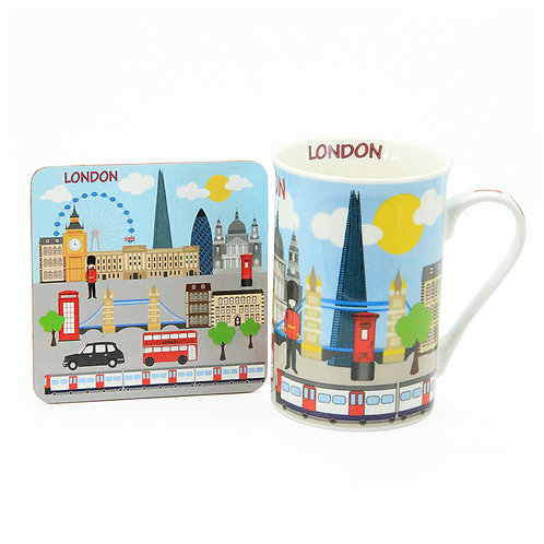 london illustration skyline