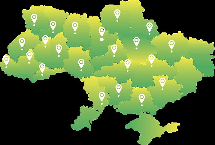 карта україни, територія постачання електроенергії