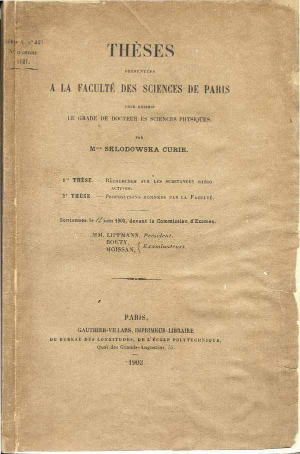 Defesa de Tese de Marie Curie