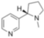 Fórmula estrutural da nicotina cigarro molécula estrutura