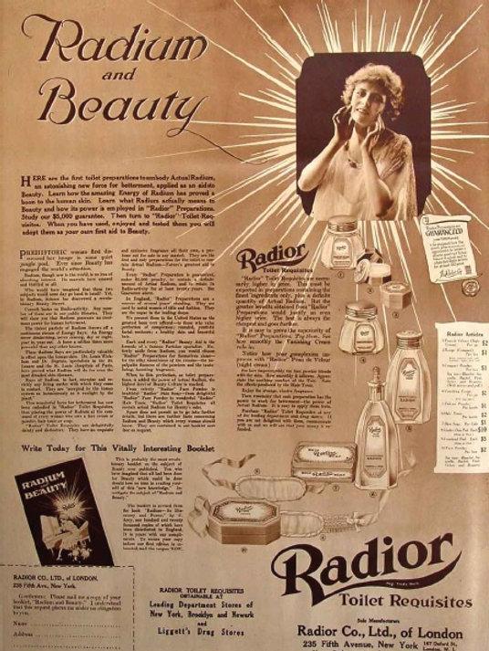 Radioatividade em produtos do século XX