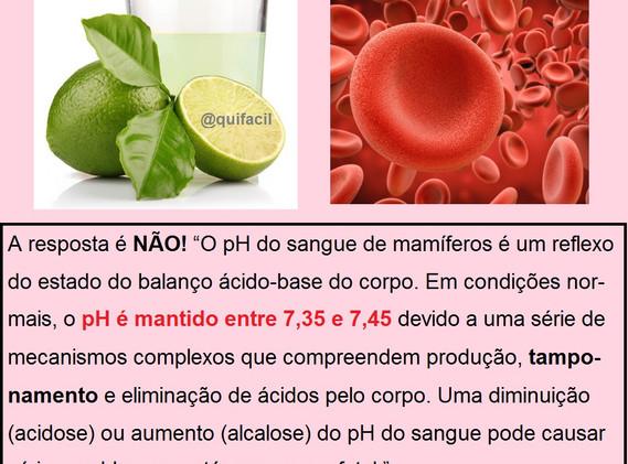 Beber suco de limão alcaliniza o sangue?