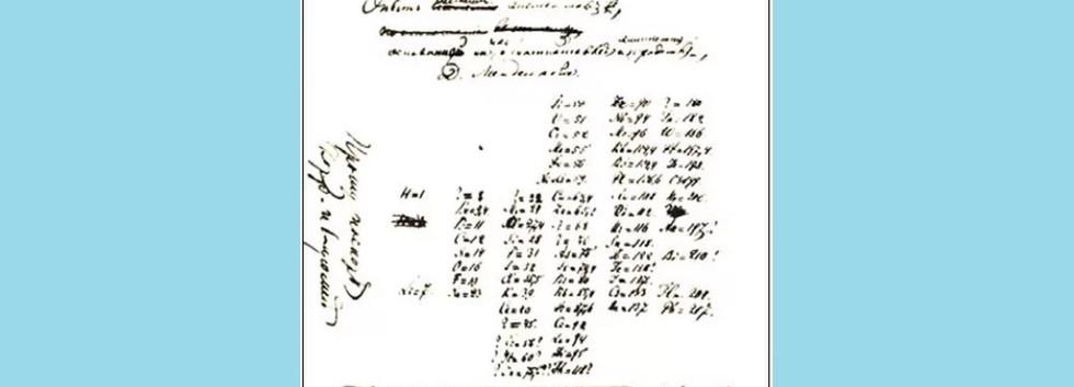 Esboço da Tabela Periódica