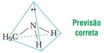 Geometria piramidal em aminas