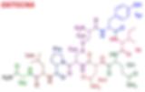 Fórmula estrutural do neurotransmissor oxitocina
