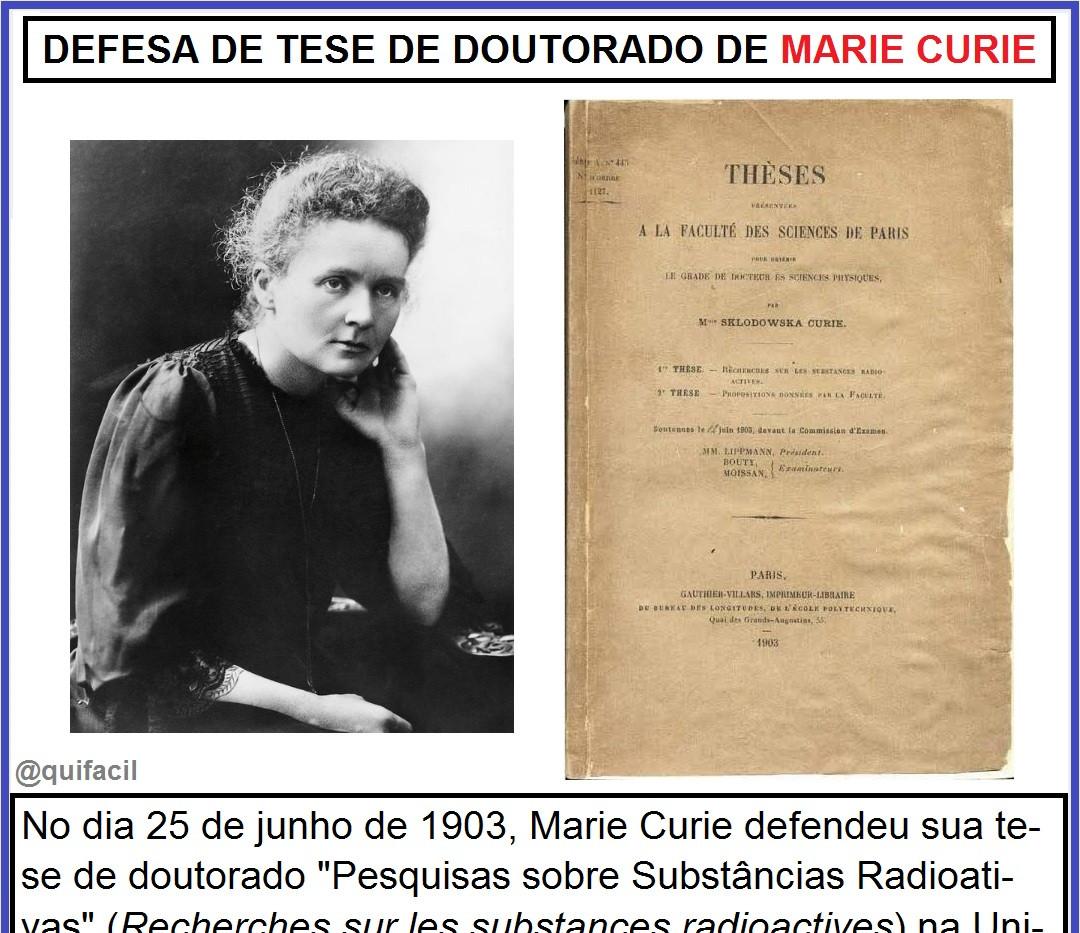 Defesa da tese de doutorado de Marie Curie