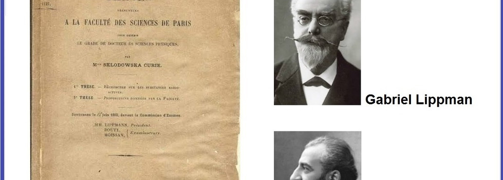 Banca da defesa da tese de doutorado de Marie Curie