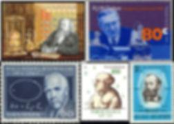 Selos ciência cientistas debye bohr paracelso