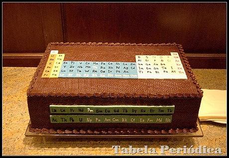 Bolo de Tabela Periódica