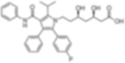 Colesterol atorvastatina estrutura molecular fórmula