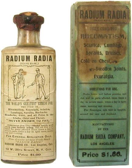 Produtos com radiação século XX