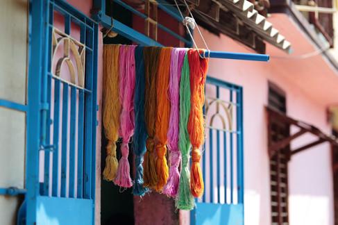 Tissage des Sari