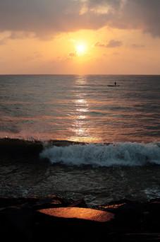 Levé de soleil à Pondichery