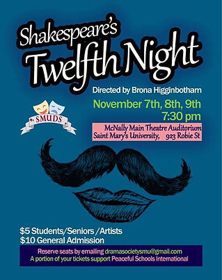 """Twelfth Night' 2018 SMUDS poster"