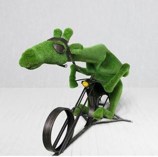Giraf op fiets