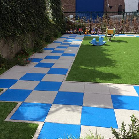 sols pour aires de jeux