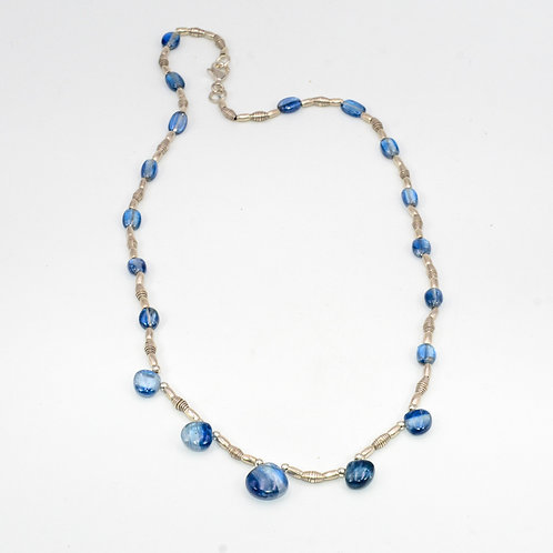 KYANITE AND SILVER NECKLACE