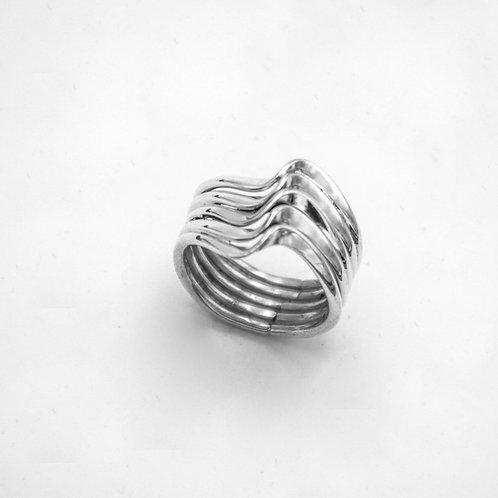 ROLLING SILVER RING