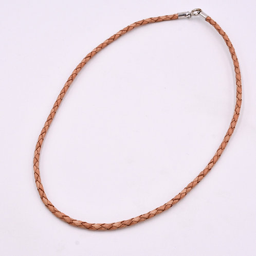PLAITED LEATHER NECKLACE