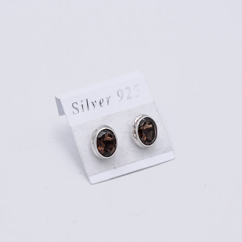 SMOKY QUARTZ STUDS