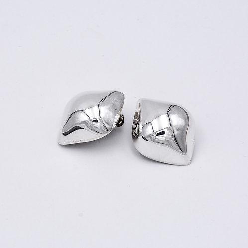 SILVER CLIP-ON EARRINGS