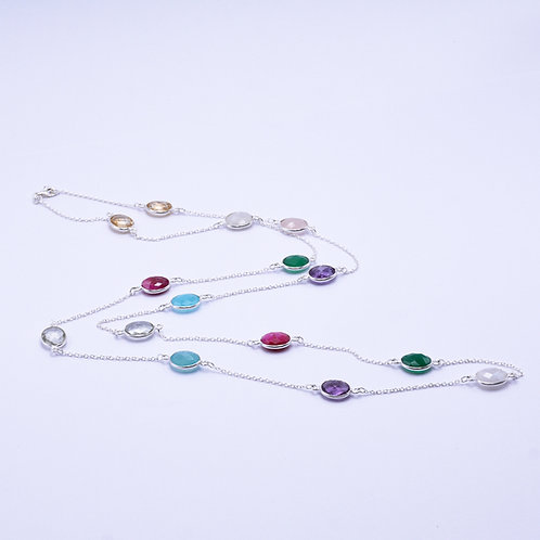 MIXED GEMSTONES NECKLACE
