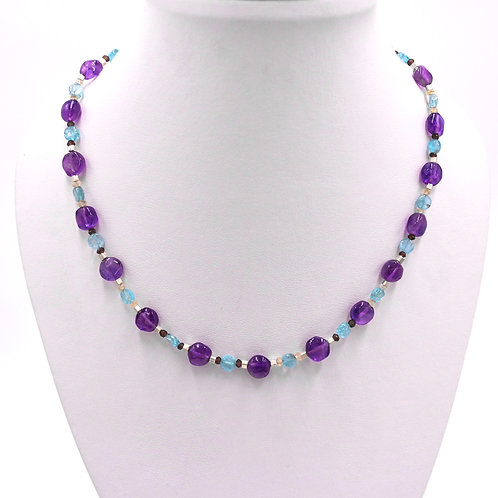 AMETHYST MIXED NECKLACE
