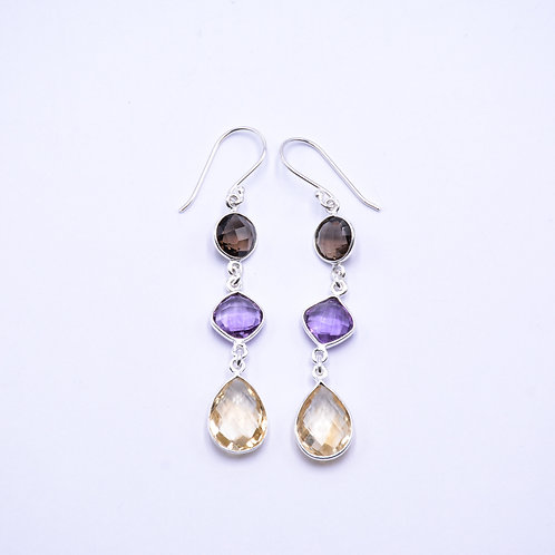 MIXED STONE EARRINGS