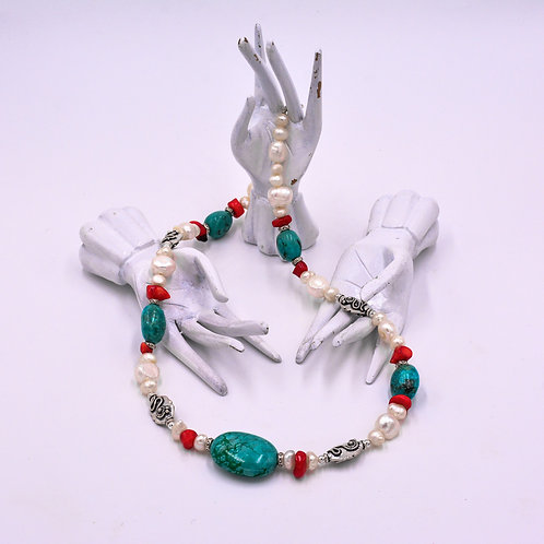 TURQUOISE-PEARL NECKLACE
