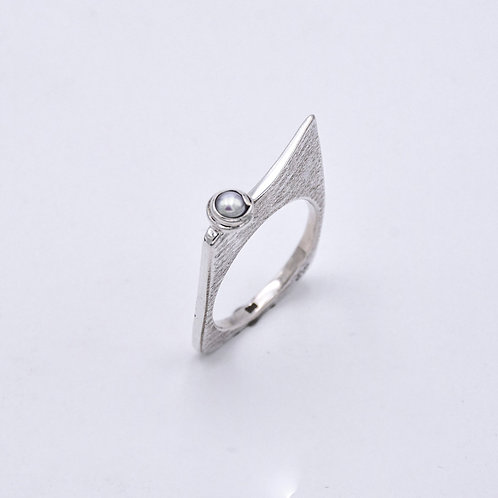 PEARL SILVER RING