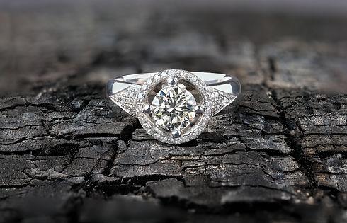 Gemsmiths derbyshire bespoke rings halo