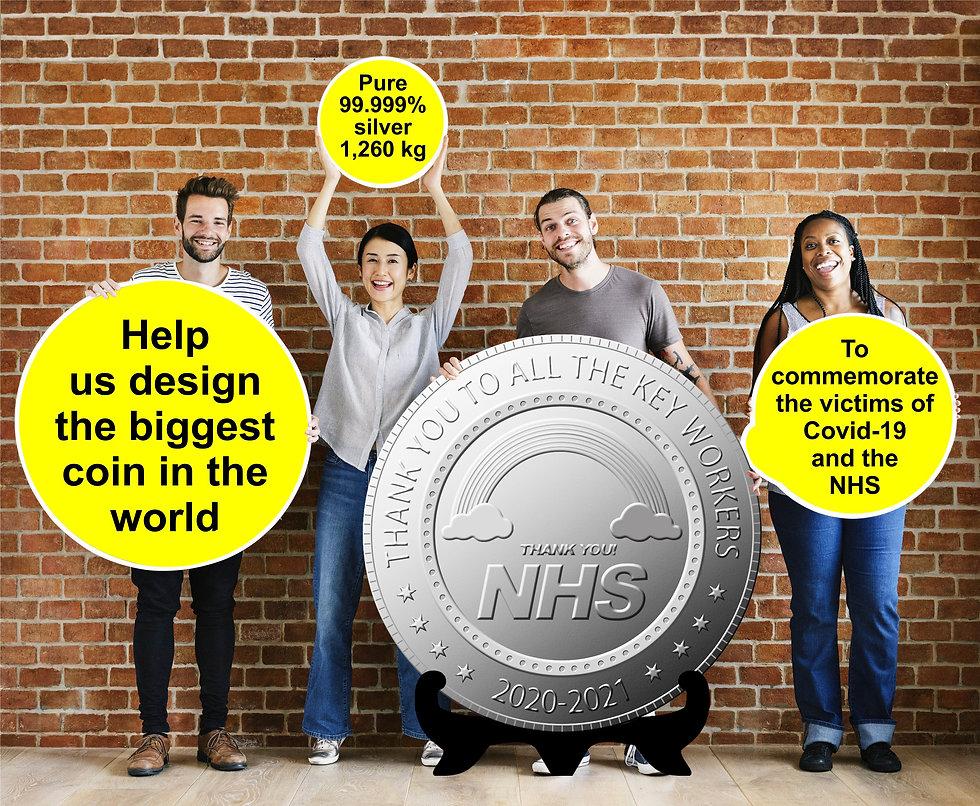 NHS covid coin gemsmiths belper newshape
