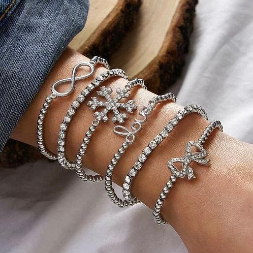 "XA ""ICY"" bracelets"